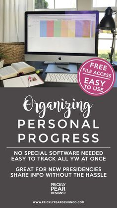 Personal Progress Tracker Sheet | LDS Young Women Personal Progress | Organizing Personal Progress | Prickly Pear Design Co. | FREE SPREADSHEET Young Women Values, Young Women Lessons, Mutual Activities, Young Women Activities, Family Activities, Book Of Mormon, Personal Progress Activities, Lds Youth, Reading Tracker