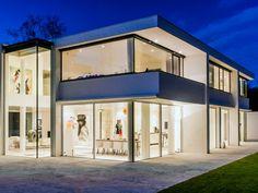 Finestra scorrevole in alluminio con triplo vetro KELLER minimal windows®4  highline by KELLER