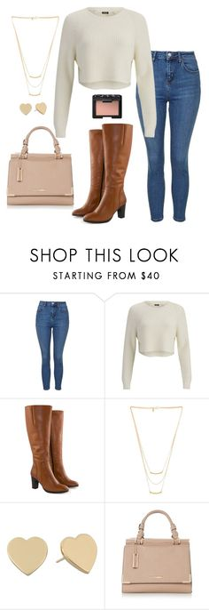 """Southern Bell"" by randomjenni ❤ liked on Polyvore featuring Topshop, 2NDDAY, Jilsen Quality Boots, Gorjana, Kate Spade and NARS Cosmetics"