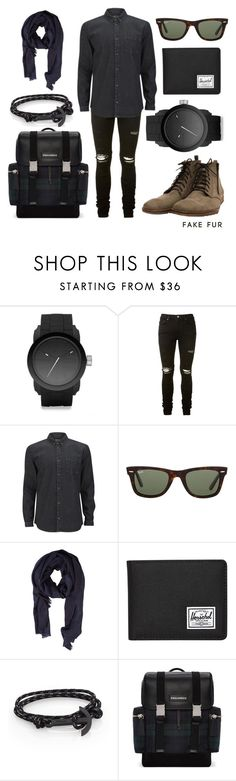 """HAAST"" by fakefur ❤ liked on Polyvore featuring Diesel, AMIRI, SUIT, Ray-Ban, MANGO, Herschel Supply Co., MIANSAI, Dsquared2, men's fashion and menswear"