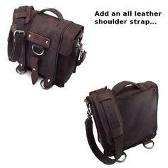 17 Laptop Journeyman Messenger bag Black 100% by CopperRiverBags