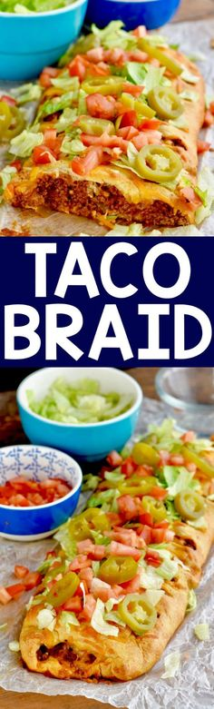Only FIVE INGREDIENTS, this Taco Braid made with crescent roll dough is such an easy and delicious dinner, you are going to want to make it again and again.