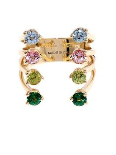 Delfina Delettrez Topaz & yellow-gold ring