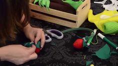 Tutorial DIY horta em feltro para crianças