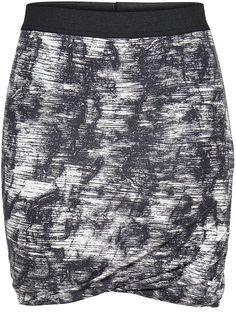 ONLY ONE Kurzer Rock mit Muster., Elastisch an der Taille., Körpernahe Passform., Auf Schadstoffe geprüfte Textilien nach dem Öko-Tex-Standard 100., Länge: 45 cm in GrößeM., Das Model ist 176 cm groß und trägt Größe S.,   95% Viskose, 5% Elasthan...