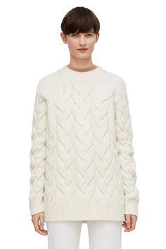 Arket cream oversize cable-knit jumper