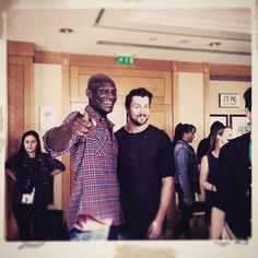 Dan Feuerriegel - Peter Mensah Instagram: Tomfoolery w @dgfeuerriegel at #rebelspartacus2 #convention Lovin @peopleconvention & #Paris #Agron #Doctore #oenemaus