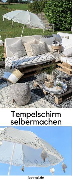 DIY aus einfachem Sonnenschirm wird mit wenigen Mitteln ein Tempelschirm, Sommer-DIY, Sonnenschirm anmalen bemalen , indischen balinesischen Sonnenschirm selbermachen, Strandutensilien selbermachen, Sonnenschutz herstellen, Strandschirm,