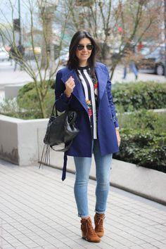 85a15d2466 look do dia casaco trench coat jeans bota santiago chile borboletas na carteira  fashion estilo style
