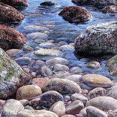 Seascape Paintings, Landscape Paintings, Watercolor Landscape, Watercolor Art, Image Nature, Art Basics, Garden Landscape Design, Contemporary Landscape, Nature Pictures