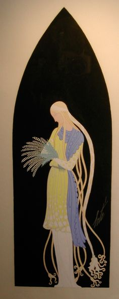 "Costumes For:  by Erté   ""Pelleas et Melisande""      Grosvenor Gallery Receipt"