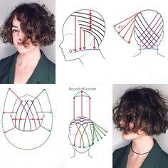 Hair Cutting Techniques, Hair Color Techniques, Medium Hair Cuts, Medium Hair Styles, Curly Hair Styles, Cool Haircuts, Cool Hairstyles, Corte Y Color, Hair Color And Cut
