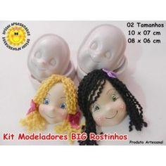 Modeladores Kit BIG Rostinhos (parte da frente)