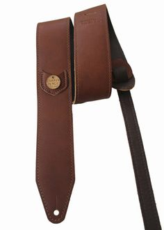 Brown Leather Guitar Strap | District West
