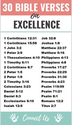 Here are the 30 most uplifting Bible scriptures on excellence. Daniel Then this Daniel became distinguished above all the other presidents and satraps, because an excellent spirit was in him.