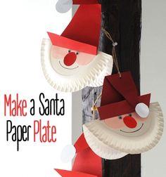 Paper plate Santa - easy Christmas craft for kids // Papír tányér Télapó - kreatív ötlet gyerekeknek Mikulásra // Mindy - craft tutorial collection