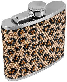 Betsey Johnson Flask, Antique Silver-Tone Pave Crystal Leopard Flask - Fashion Jewelry - Jewelry & Watches - Macy's
