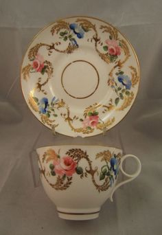 SWANSEA PORCELAIN CUP & SAUCER MARK TO BASE 1814-22