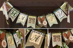 cute burlap and paper craft