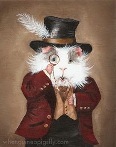 Simon Cranberry Victorian Guinea Pig Portrait by WhenGuineaPigsFly
