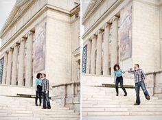 #Chicago #Engagement #Museum #Portraits www.walkingdotphotography.com