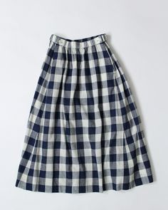 Gauze de gingham skirt