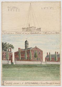 Harvard Library, Harvard College, Harvard University, College Classes, Urn, Massachusetts, Perspective, Vintage World Maps, Gems