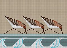 Needlepoint Plovers