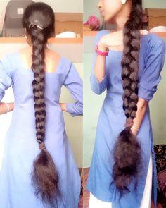 Playing With Hair, Long Black Hair, Bun Hairstyles, Rapunzel, Indian Fashion, Braids, Long Hair Styles, Smooth, Instagram