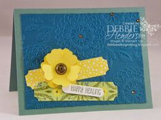 Create with Connie & Mary Challenge #311. Stampin' Up! Lovely Lace Embossing Folder and Many More stamp set. Debbie Henderson, Debbie's Designs.