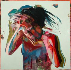 Figurative paintings infused with drama and movement through the use of expressive brushstrokes.