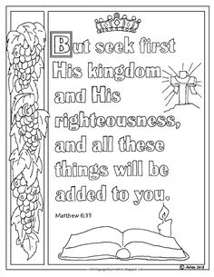 matthew 8 coloring pages - photo#40