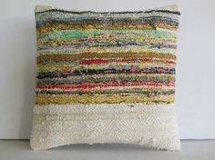 DECORATIVE THROW PILLOW Kilim Pillow Cover Turkish by KILIMDECOLIC, $15.95