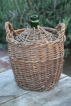French wicker jug
