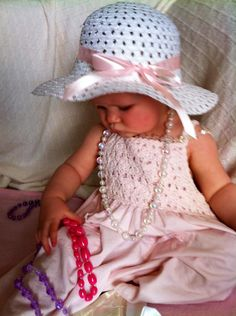 Love the dress on this sweet toddler!