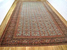 "Persian: Floral 22' 0"" x 12' 6"" Antique Sultanabad at Persian Gallery New York - Antique Decorative Carpets & Period Tapestries"
