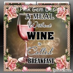 *New* A Meal Without Wine - Card Topper Digi Kit