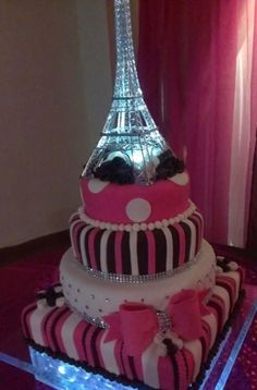 lol over the top eiffel tower cake