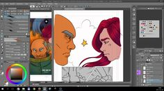 Timelapse digital painting - Chapter 7 Page 02 [Tales of Midgard webcomi...