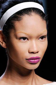 Chanel Iman / Valentino / Spr 2010 / Bleach Brow / Fuchsia Lip