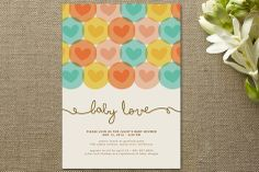 baby shower invites that could easily be adapted/DIYed into wedding or bridal shower invites.
