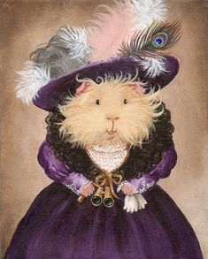 Ingrid Pumpernickel the Victorian Guinea Pig by WhenGuineaPigsFly