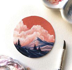 Circle Canvas, Mini Canvas Art, Vinyl Record Art, Vinyl Art, Vynil, Circle Painting, Cd Art, Aesthetic Painting, Ideias Diy
