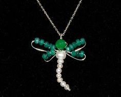 May birthstone sale  New Dragonfly pendent by NewelryJewelry