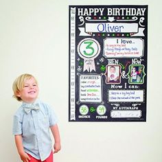 The Birthday Poster by Sticky Bellies - Photo Template- Infographic
