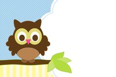Owl Party Printables Invitation
