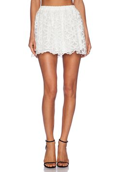 Lucca Couture High Waisted Lace Skirt in White #REVOLVEclothing
