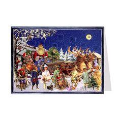 Victorian Sleigh Advent Calendar Card ~ Germany