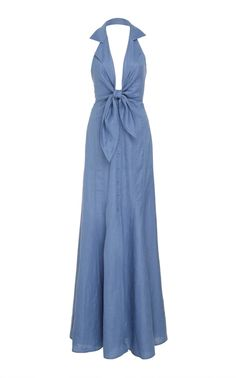 Herrera Maxi Dress by Andres Otalora | Moda Operandi Belted Dress, Floral Maxi Dress, Dress Outfits, Cool Outfits, Women's Dresses, Bra Extender, Temperley, Daily Fashion, Wedding Styles
