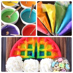 Desayuno para niños: tortitas arcoiris
